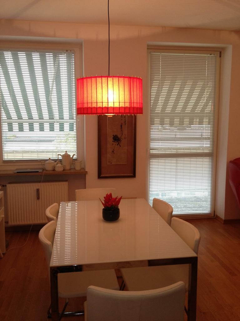 Lampe Kotori Bambus Japanpapier Rot O 39 Cm Von Hiyoshiya