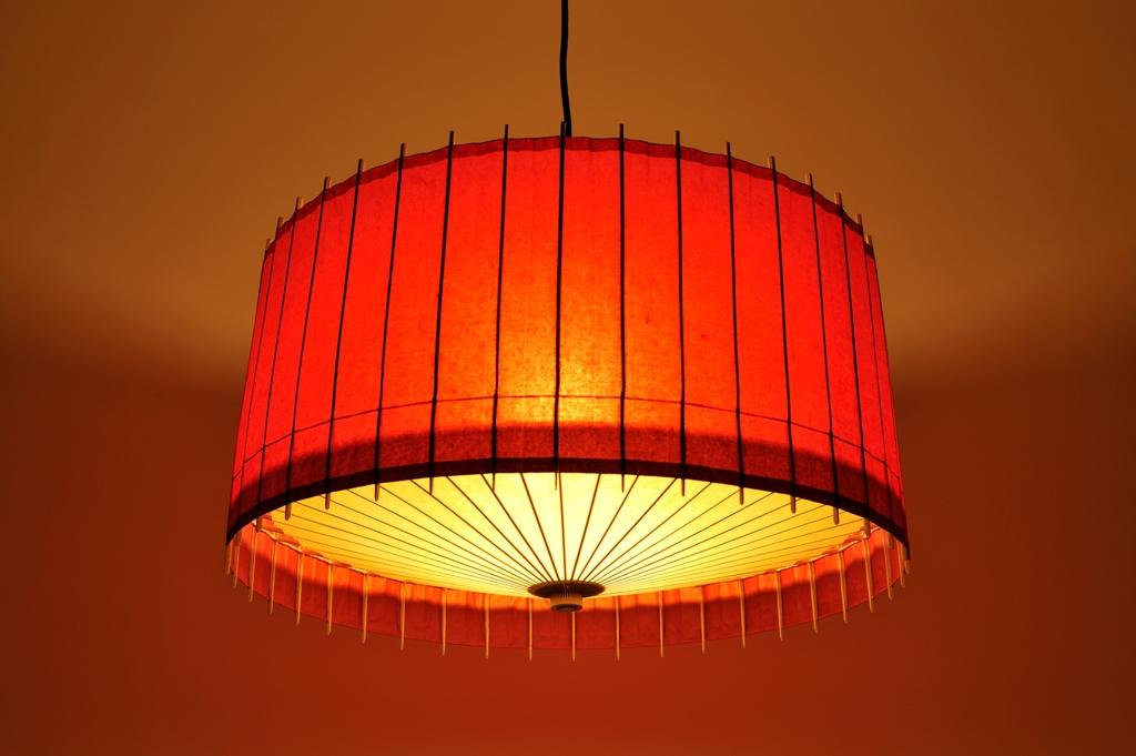 Lampe Kotori Bambus Japanpapier Rot O 71 Cm Von Hiyoshiya