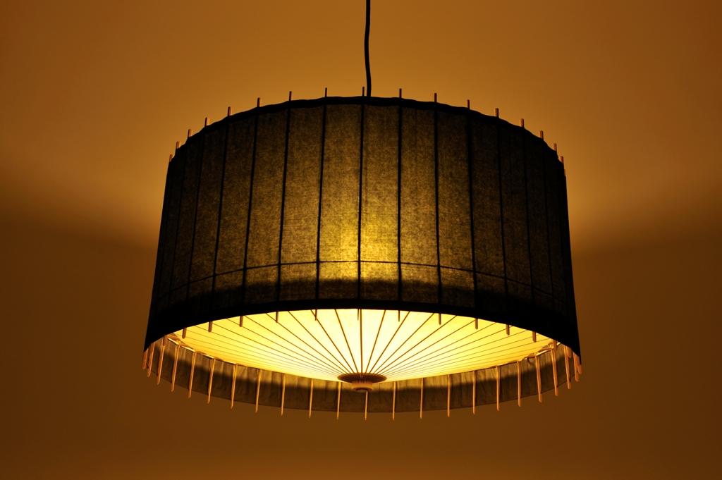 Lampe Kotori Bambus Japanpapier Schwarz O 53 Cm Von Hiyoshiya