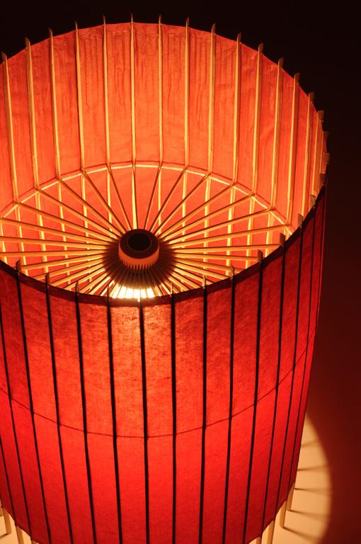 tischlampe kotori bambus japanpapier rot 31 cm von hiyoshiya japanische wohnaccessoires und. Black Bedroom Furniture Sets. Home Design Ideas