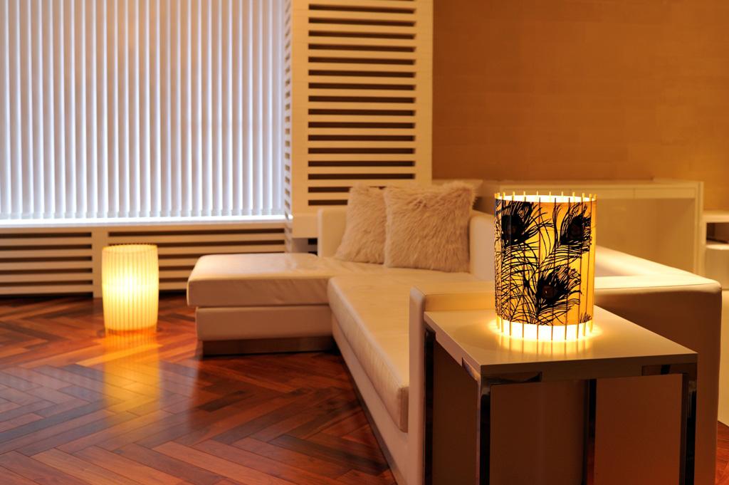 Tischlampe kotori bambus japanpapier wei 31 cm von for Tisch japanisches design